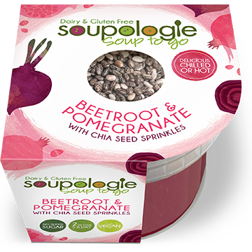 SOUPOLOGIE PRODUCTS SOUP TO GO BEETROOT & POMEGRANATE WITH CHIA SEED SPRINKLES