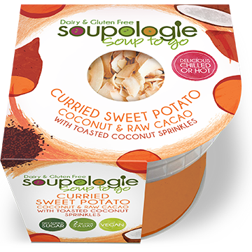 SOUPOLOGIE PRODUCTS SOUP TO GO CURRIED SWEET POTATO WITH TOASTED COCONUT SPRINKLES