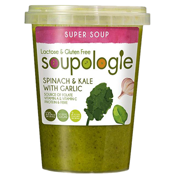 SOUPOLOGIE PRODUCTS SOUP SPINACH AND KALE WITH GARLIC SUPER BOOST RANGE SOUPS
